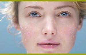 Вода на коже лица