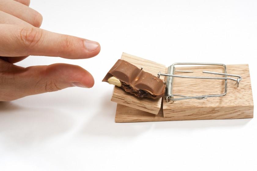 шоколад в мышеловке
