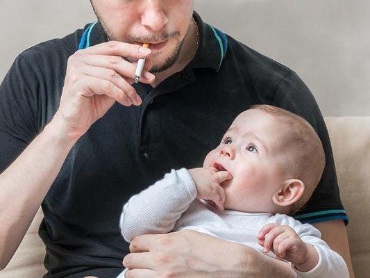 папа курит