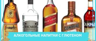 алкоголь с глютеном